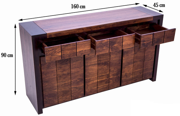 dimensions of buffet table