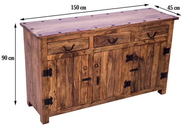 dimensions of Rustic Buffet Table
