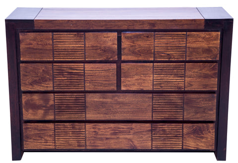 Front view of chest of drawers