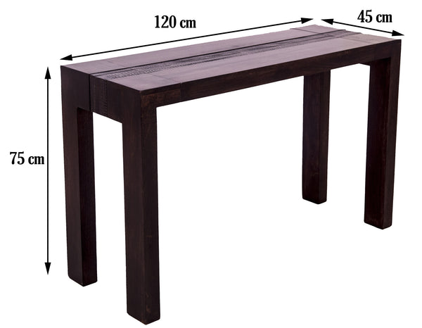 dimensions of dark brown console table