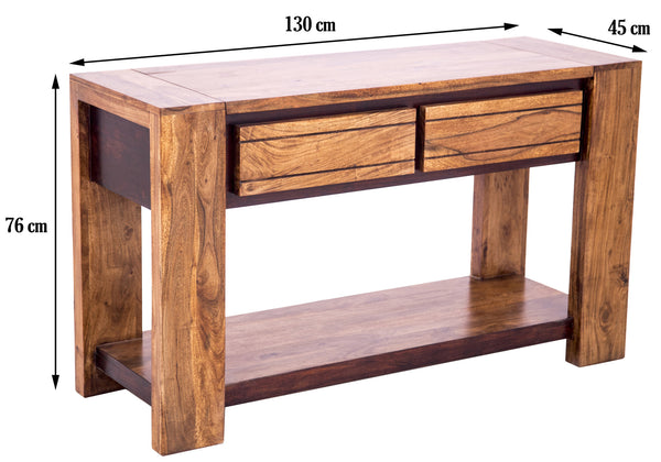 dimensions of Sweden Console Table with Drawers