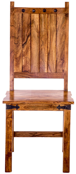 Front view of dining chair