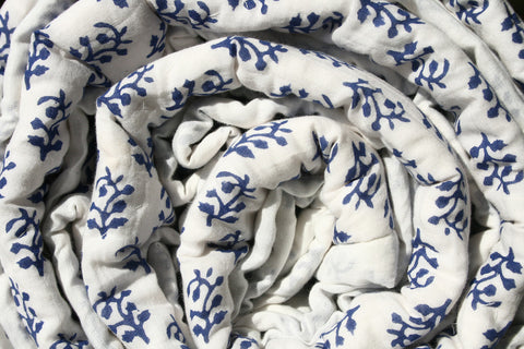 Blue Cotton Quilt Close-up image