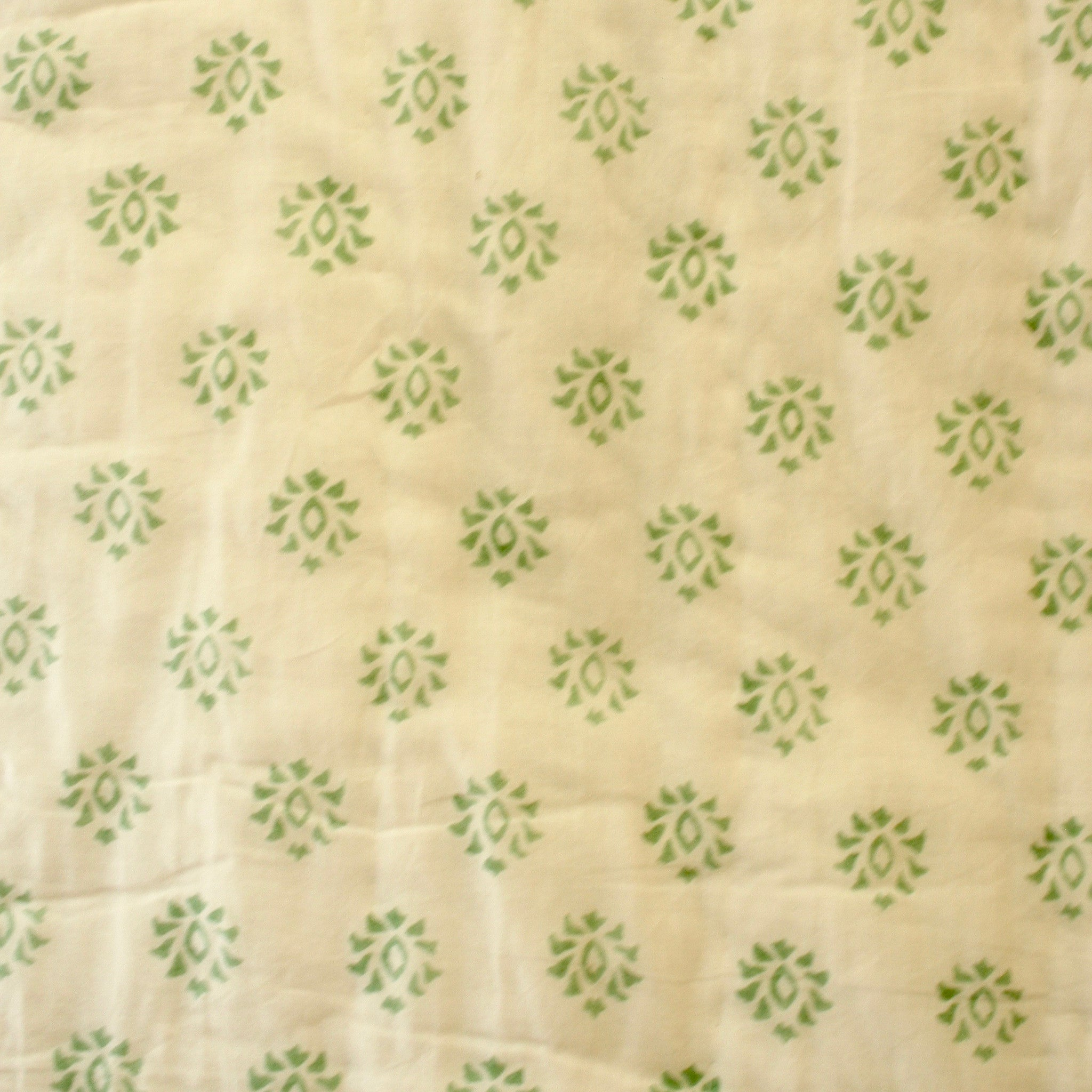Green Grey Cotton Quilt Print