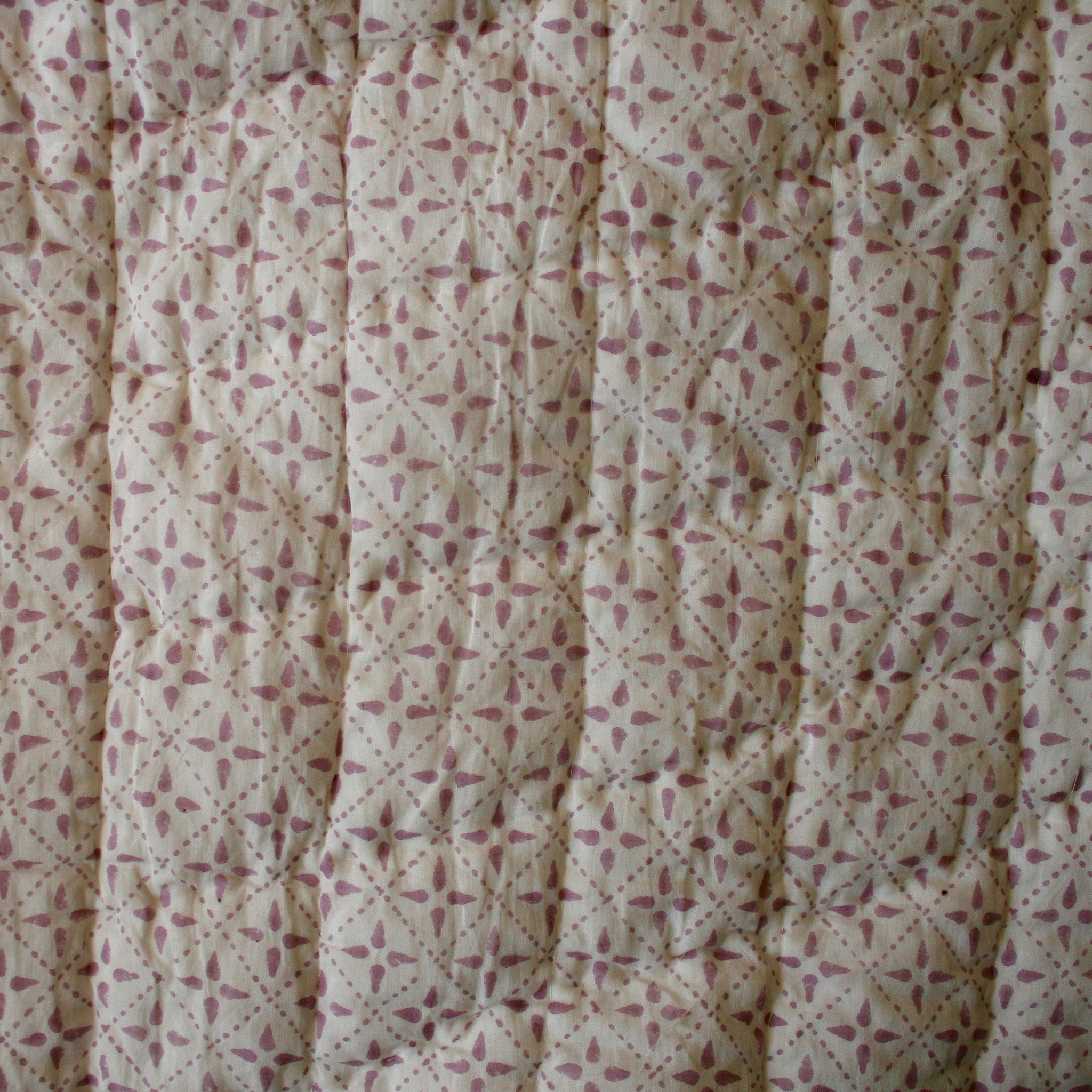 Print of Mauve Cotton Quilt