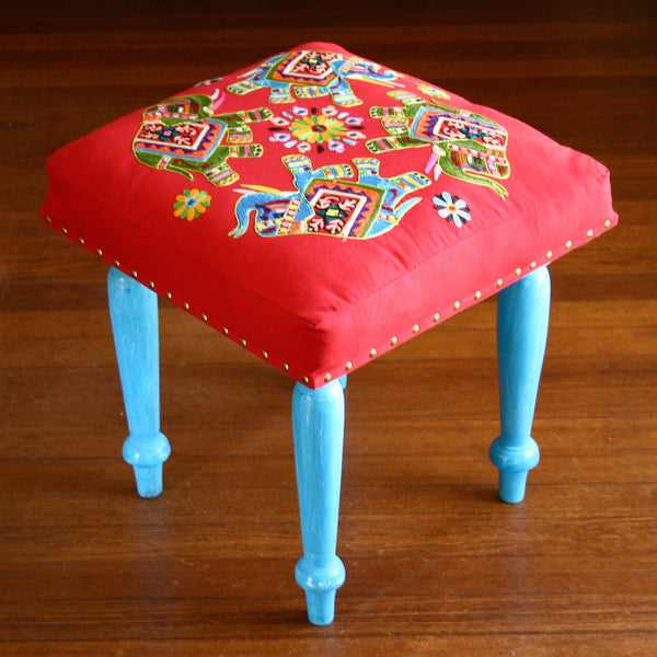 Red Footstool