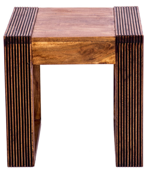 Front view of side table