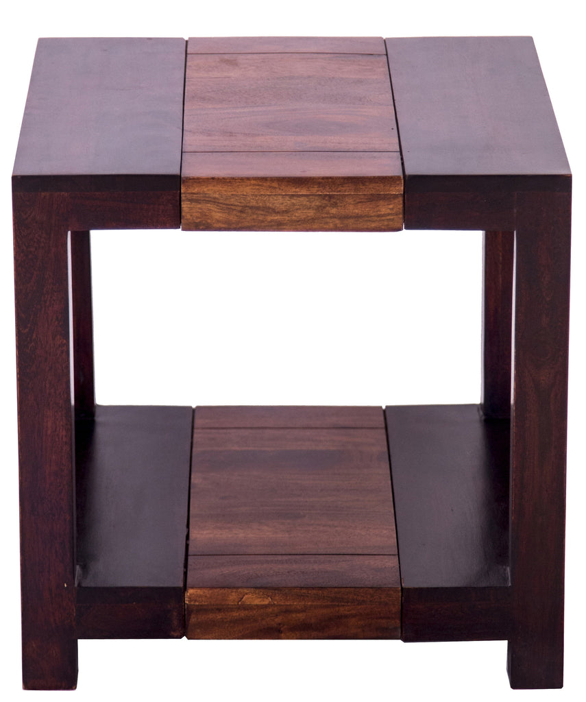 Front and top view of side table