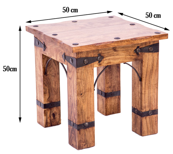 dimensions of Rustic Side Table