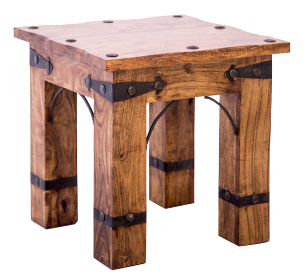 Diagonal view of Rustic Side Table