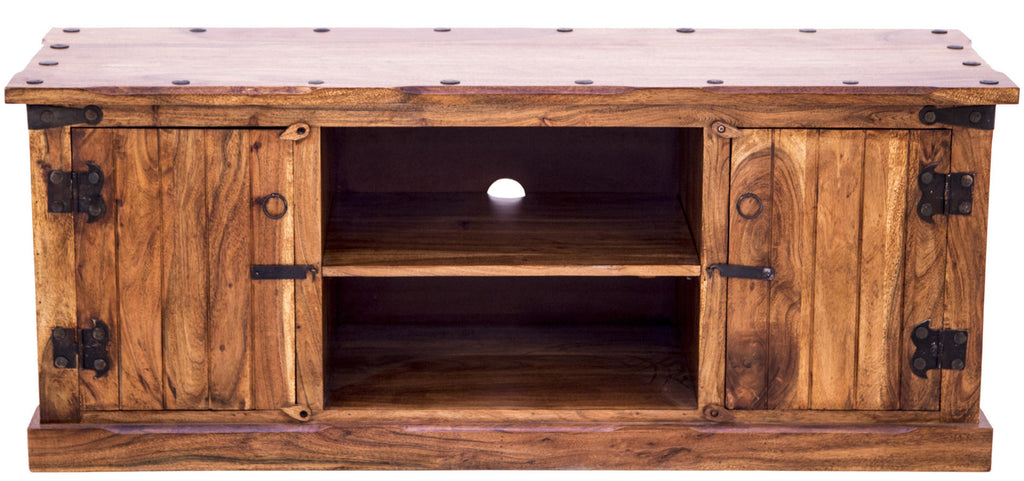 Front view of Rustic TV Unit