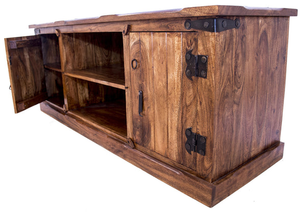 Side view of Rustic TV Unit
