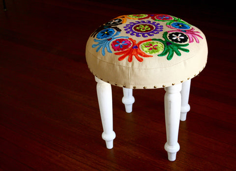 White Footstool