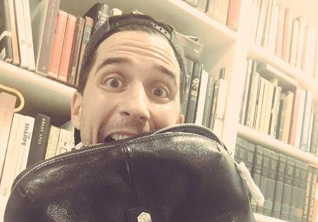 Comedian Russell Kane is having a bromance with his Berlin backpack