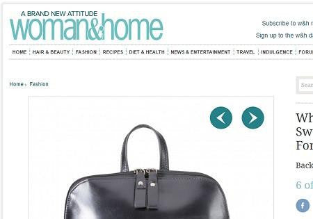 "Oxford 13"" Ladies Backpack featured on Woman and Home magazine online"