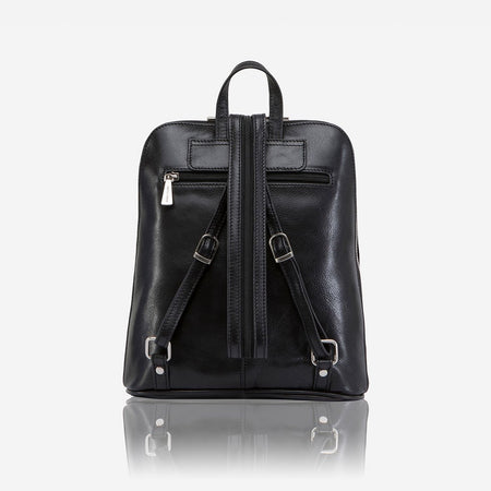 Slim Ladies Backpack, Soft Black