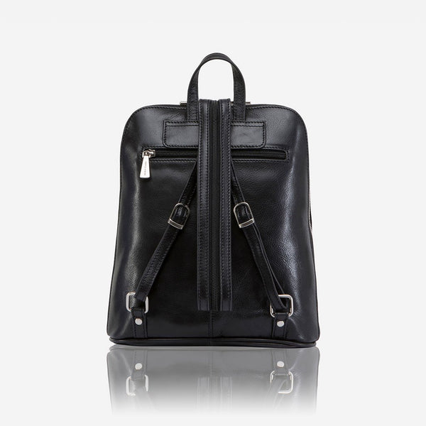 Women's Sale - Slim Ladies Backpack, Soft Black
