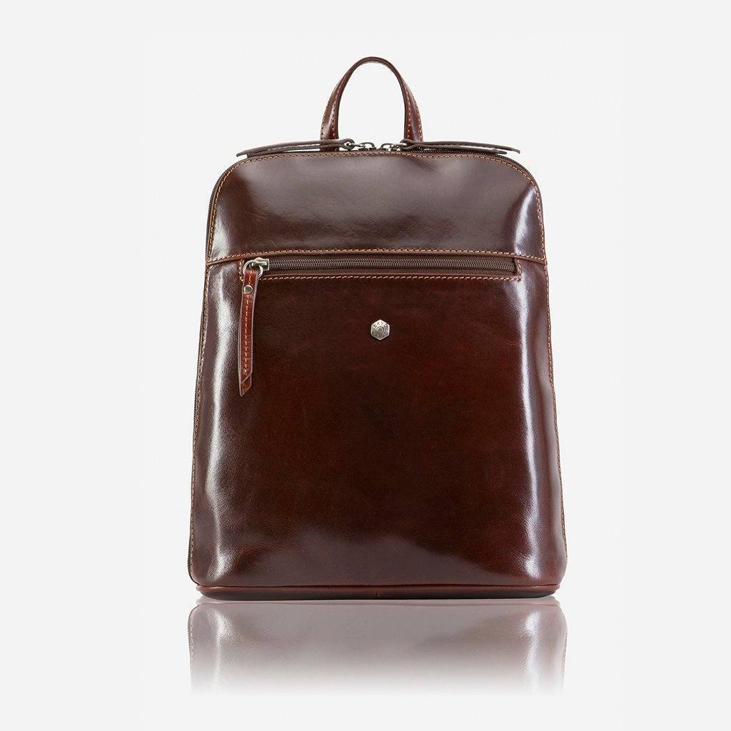Slim Ladies Backpack, Tobacco
