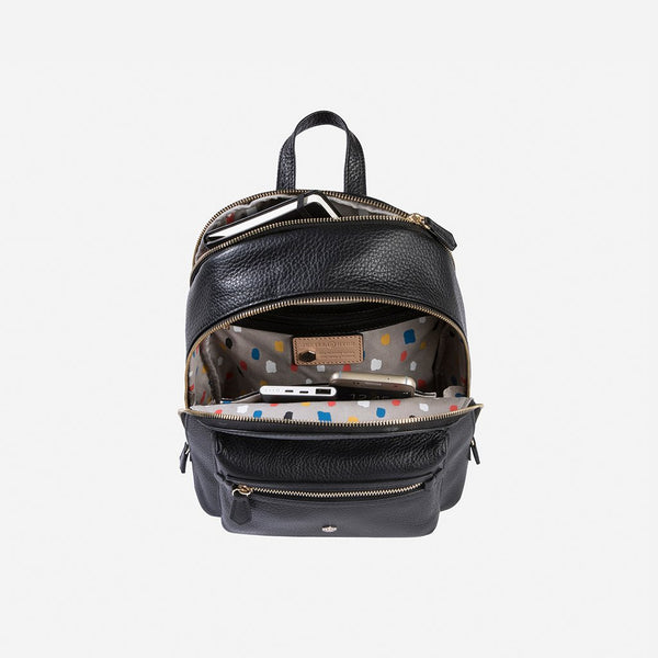 - Classic Leather Backpack, Black