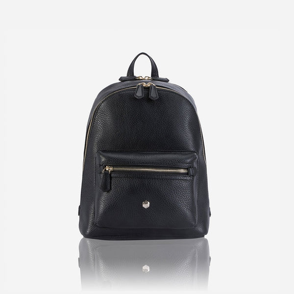 Capri - Classic Leather Backpack, Black