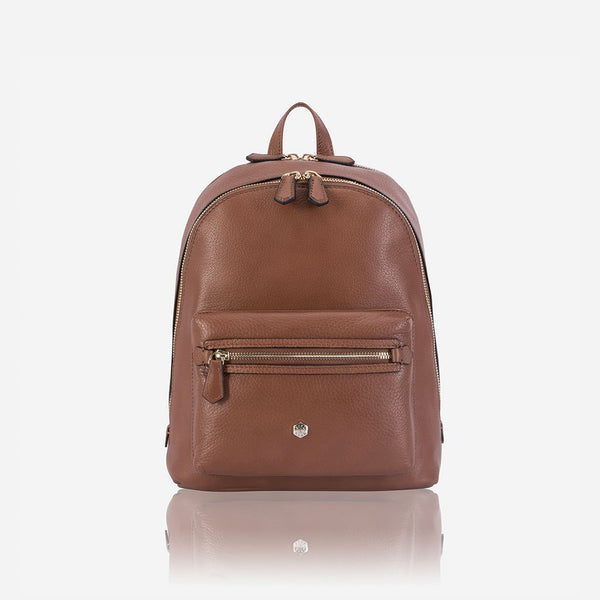 Capri - Classic Leather Backpack, Nut