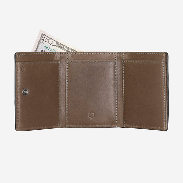 Men's under $100 - Tri Fold Card Holder, Olive