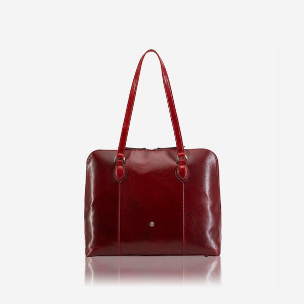 Women's under $400 - Medium Leather Laptop Handbag, Rust