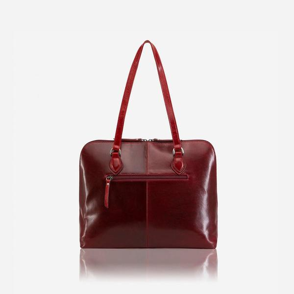 Women's Sale - Medium Leather Laptop Handbag, Rust