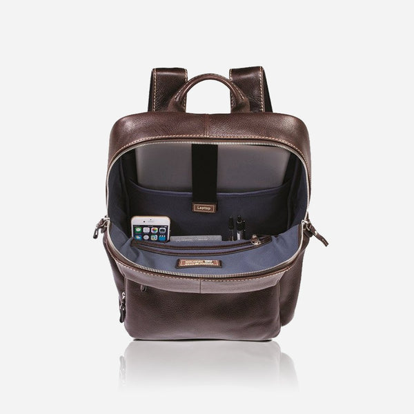 Men's Backpacks - Laptop Backpack 40cm, Soft Brown