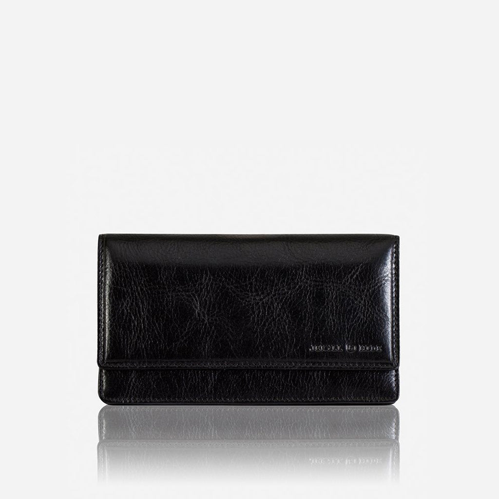 Large Leather Purse, Black