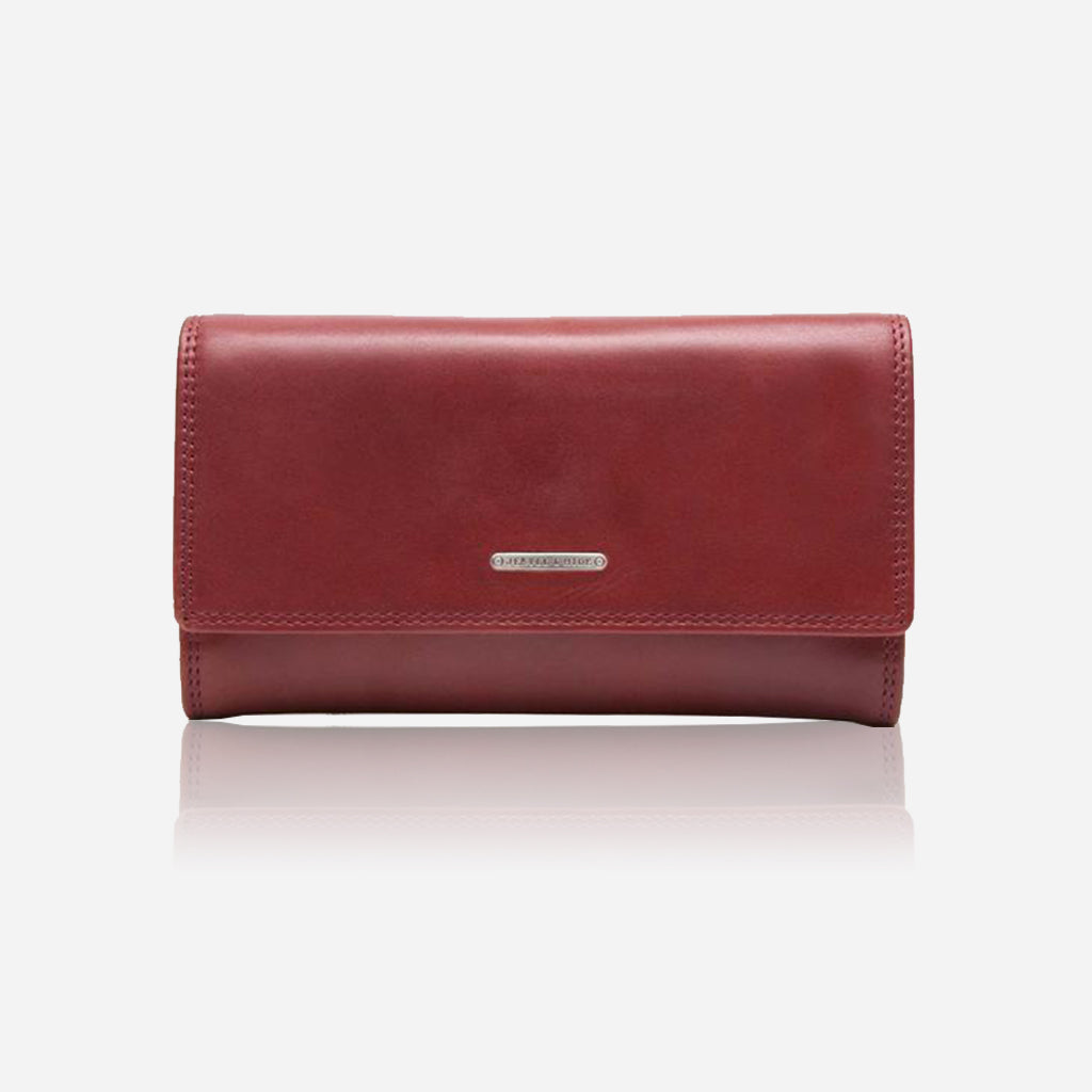 Large Leather Purse, Red