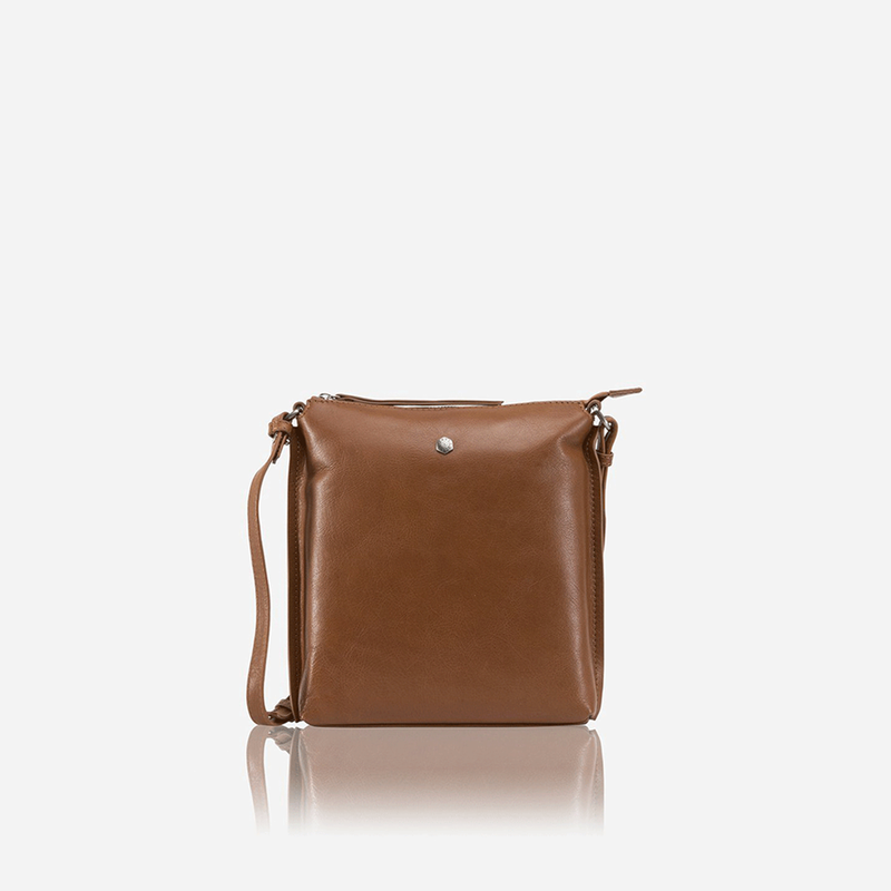 Ladies Essentials Crossbody Bag, Tan - Jekyll and Hide SA
