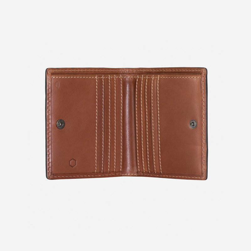 Slim Bifold Wallet With Coin, Clay