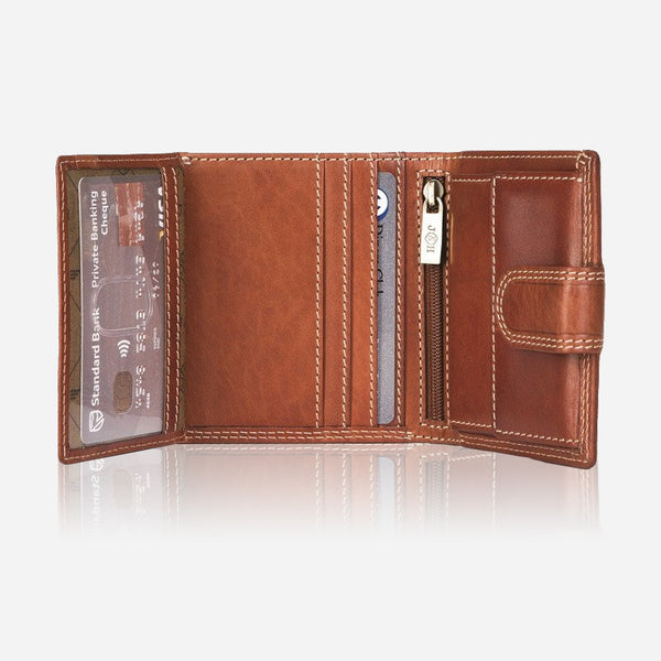 Men's Tri-fold Wallet with Coin Pouch