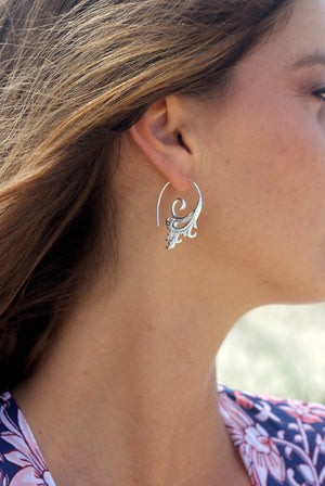 TEMPLE EARRING - Silver