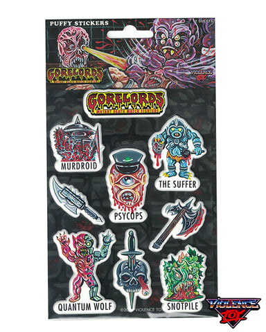 Gorelords Puffy Stickers Pack