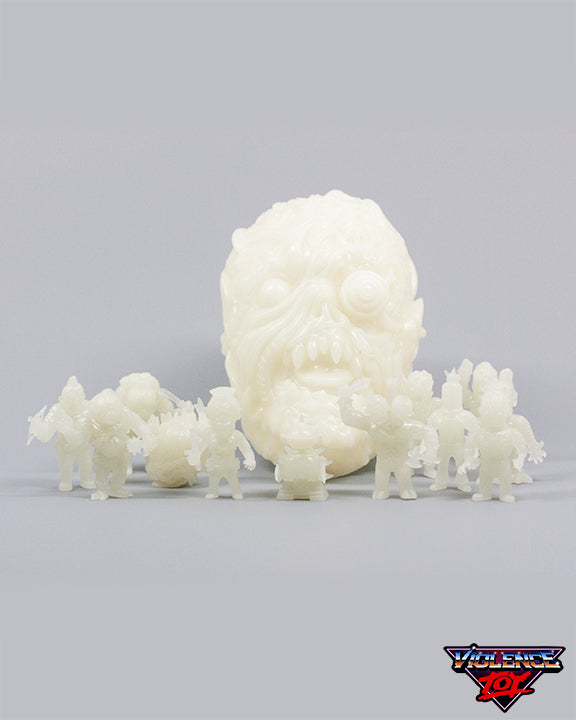 Gorelords Monitorr Head with set of 12 Figures- Glow