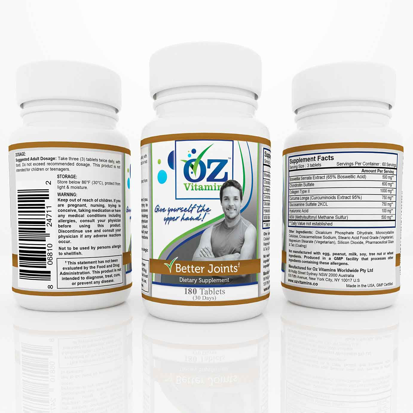Oz Vitamins Better Joints $59.99 Exclusively Online