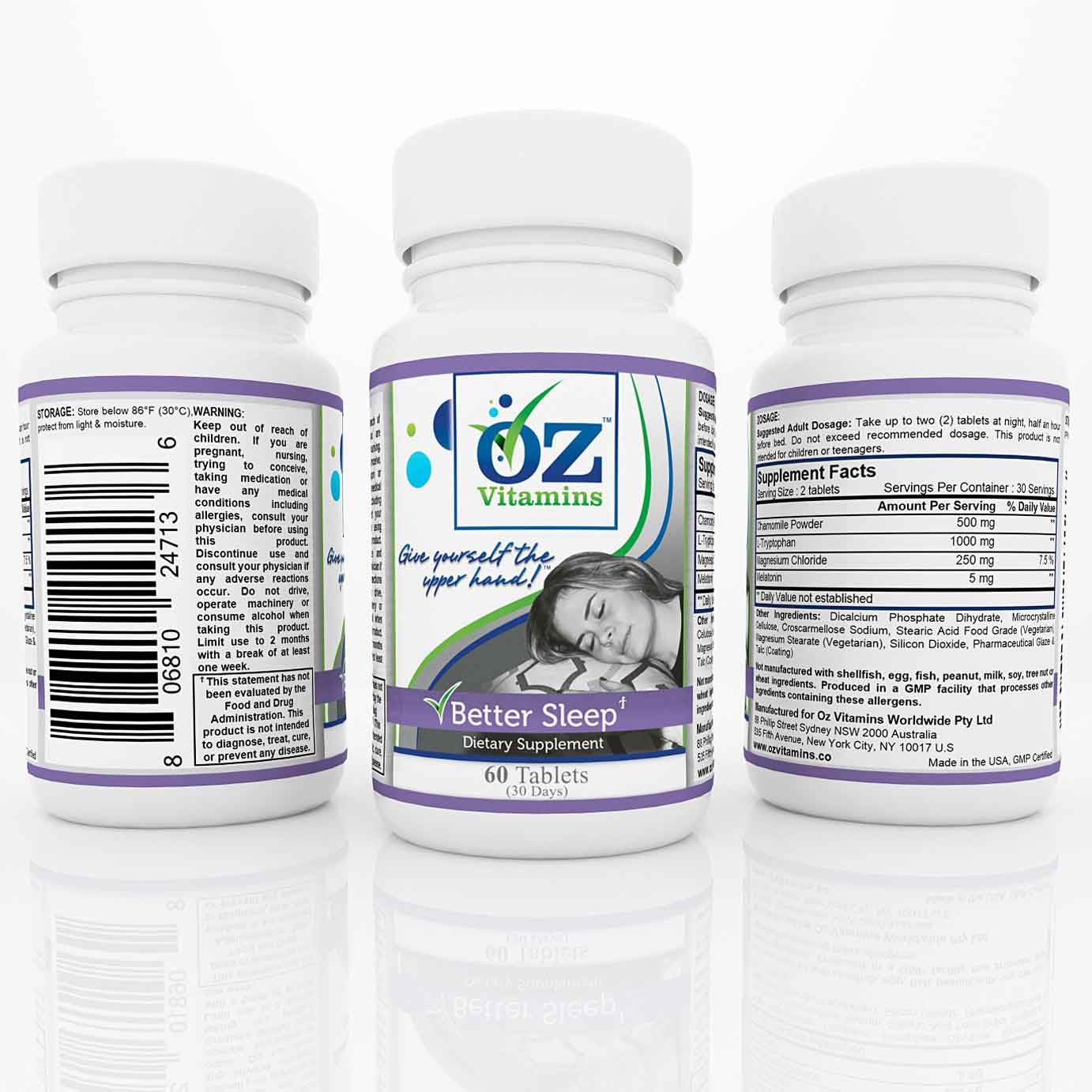 Oz Vitamins Better Sleep $34.99 Exclusively Online