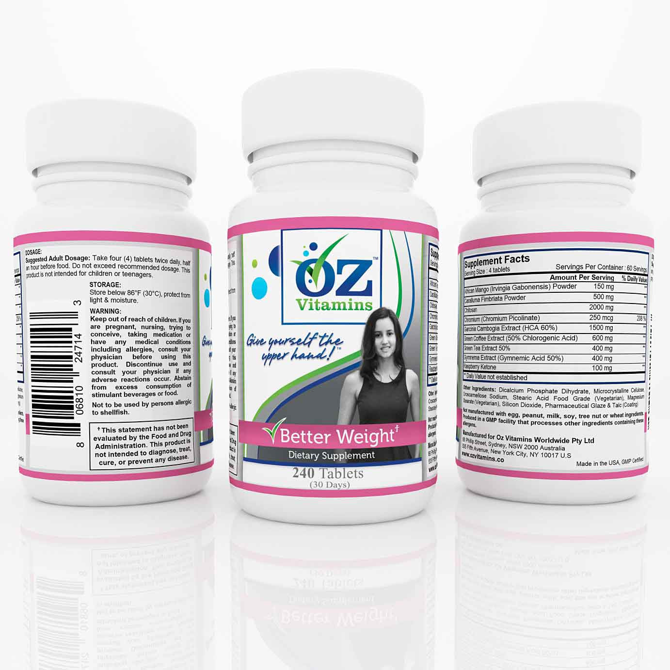 Oz Vitamins Better Weight $59.99 Exclusively Online