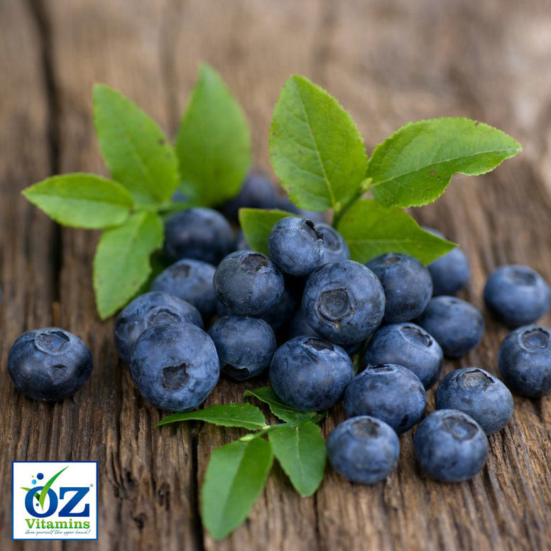 Oz Vitamins Better Eyes vitamin dietary supplement includes the antioxidant rich Bilberry 36% (Vaccinium myrtillus) 320mg/day which contains 36% Anthocyanins.