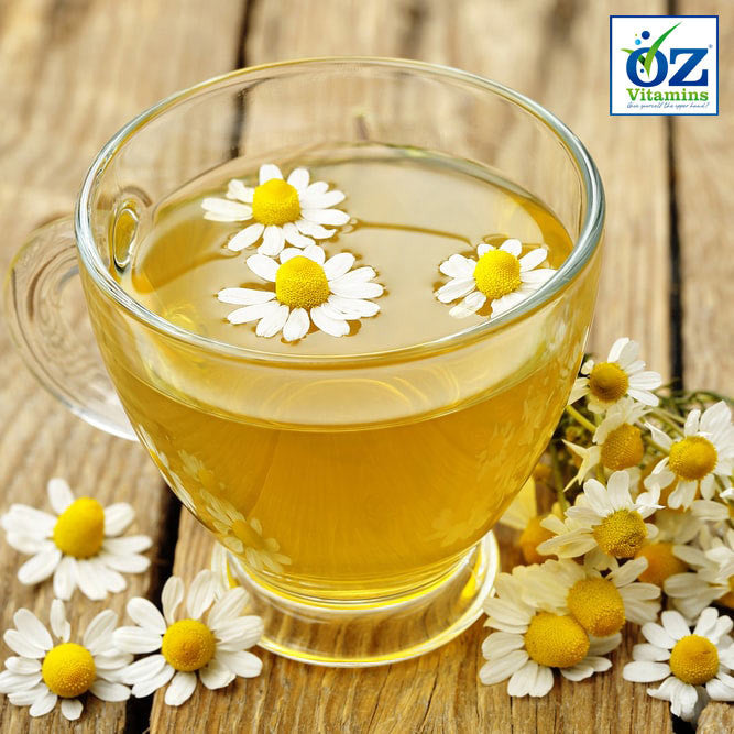 Natural chamomile is a recommended herbal therapy for relaxation and reducing anxiety-like symptoms.