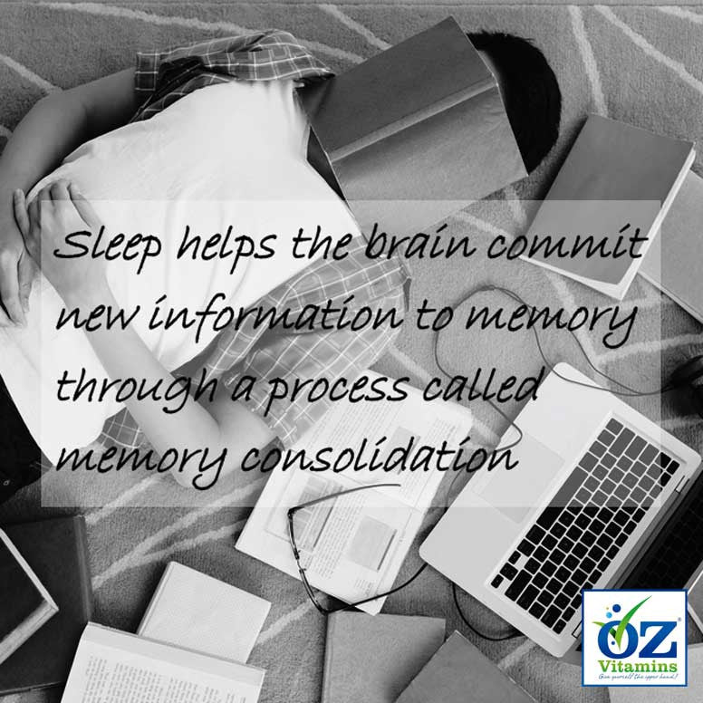 Sleep helps the brain commit new information to memory through a process called memory consolidation. Newer findings characterise sleep as a brain state optimising memory consolidation, and the waking brain optimising memory encoding. During slow wave sleep, memory consolidation originates from the reactivation of recently encoded neuronal memory representations, which then transform respective representations for integration into long-term memory. The rapid eye moment (REM) sleep that follows, may stabilis