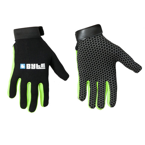 BYTE SNUG FIT GLOVES BLACK GREEN