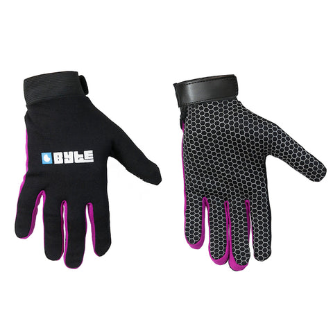 BYTE SNUG FIT GLOVES BLACK PURPLE