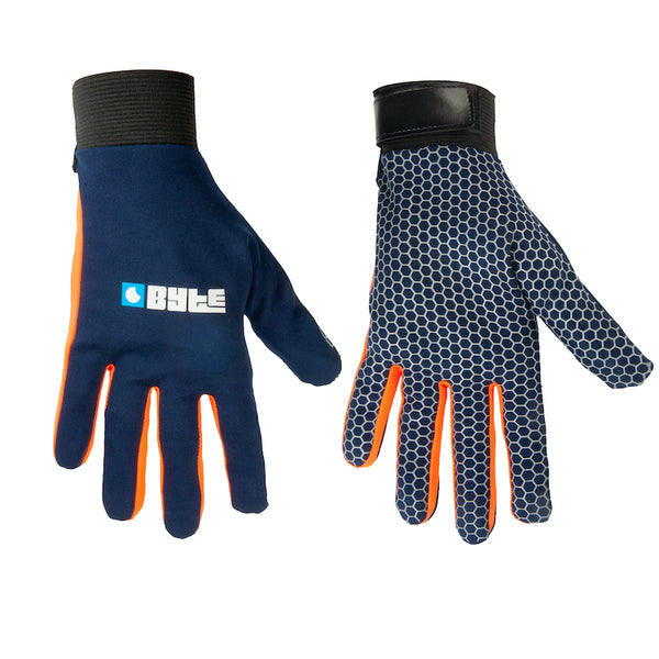 BYTE SNUGFIT GLOVES NAVY ORANGE