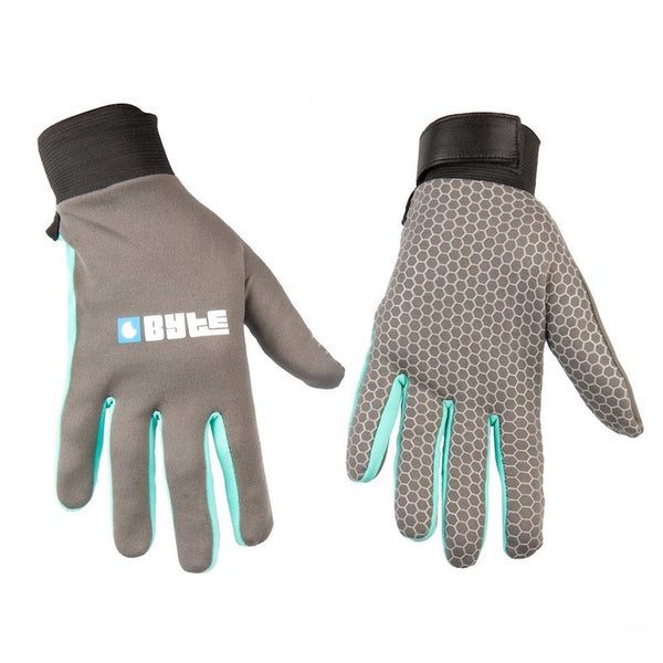BYTE SNUGFIT GLOVES GREY TEAL