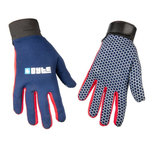 BYTE SNUGFIT GLOVES NAVY RED