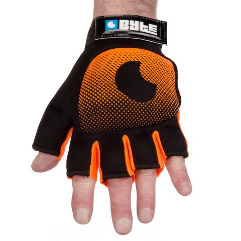 BYTE LEFT HAND KNUCKLE GLOVE BLACK ORANGE