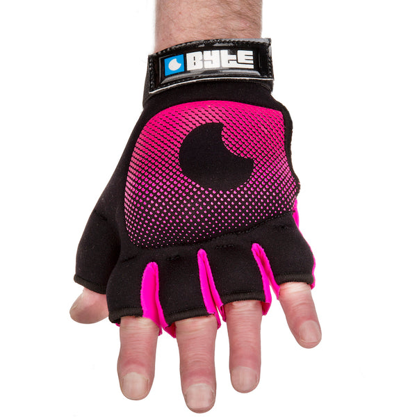 BYTE LEFT HAND KNUCKLE GLOVE BLACK PINK